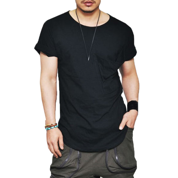 Brand Casual Clothing Fitness t shirt Men Fashion Extend Hip Hop Dance Summer