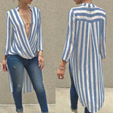 Women Sexy Deep V neck Blouses Tops 2018 Autumn Ladies Long Sleeve