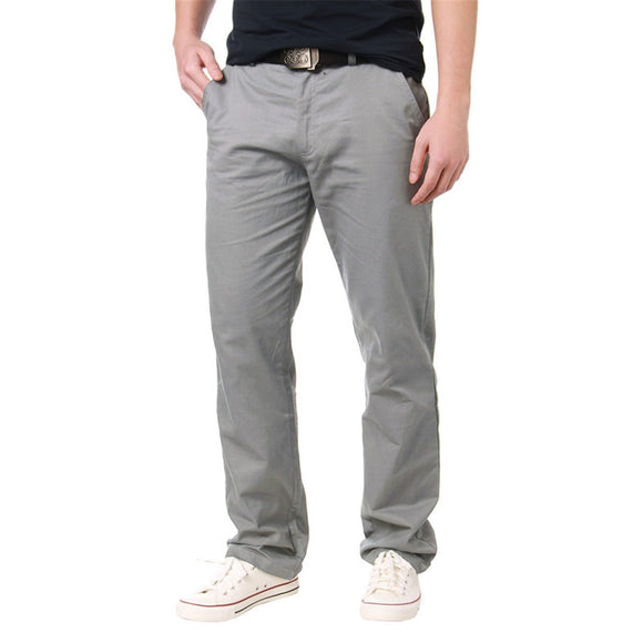 Casual Work Formal Solid Color Zipper Slim Fit Cargo