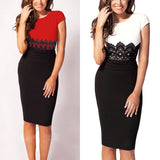 Sexy Lace Party Wear Office Slim Hip Up Slim Ladies Pencil Bodycon