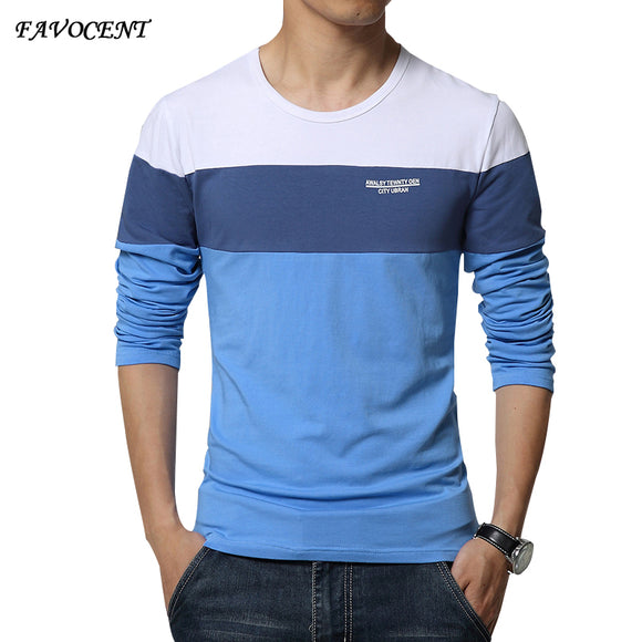 FAVOCENT brand Hot 2018 New Spring Fashion O-Neck Slim Fit
