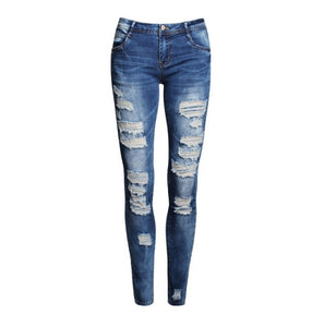 Low Waist Distressed Jeans