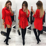 Women Casual Long Sleeve O Neck Solid Evening Party Maxi Dress