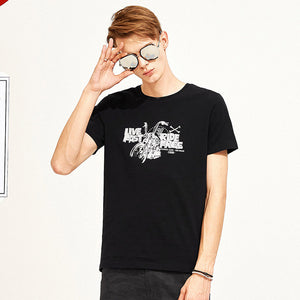 mens brand clothing casual printed tshirt short sleeve for men