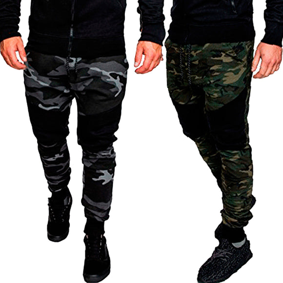 Camouflage Sweatpants Jogger Trousers Gyms Loose