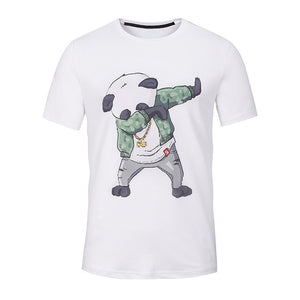 New Summer Funny Panda Printed Men T Shirt Short Sleeve