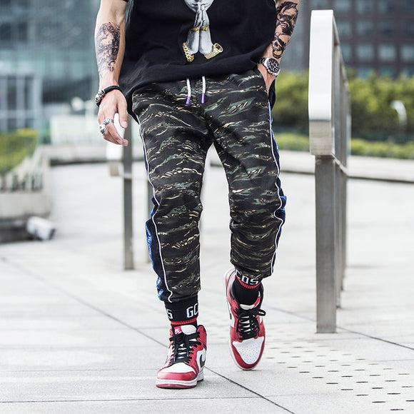 Side Stripe Camo Trousers