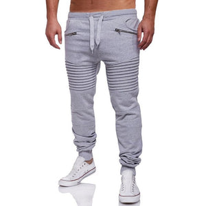 Casual Men Sportswear Elastic Slim Fitness Workout Skinny Pants