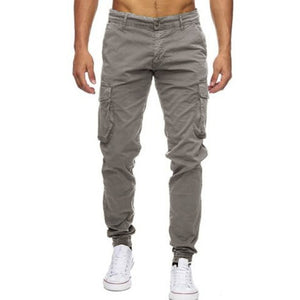 Pockets Slim Fitness Work Trousers Army Green 40