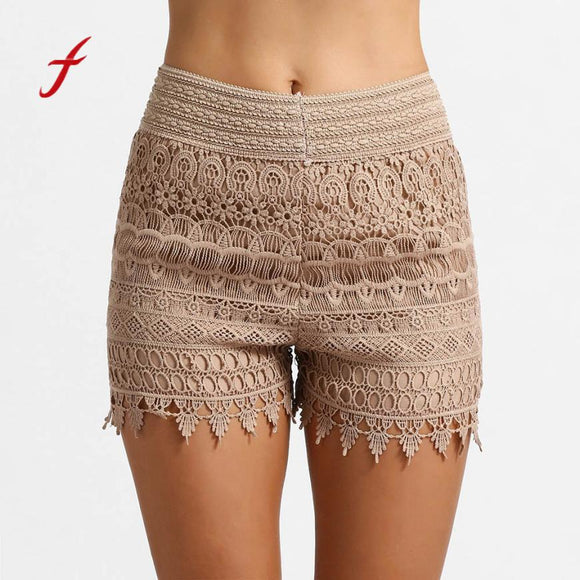 High Waisted Lace Short  Dancing Wear