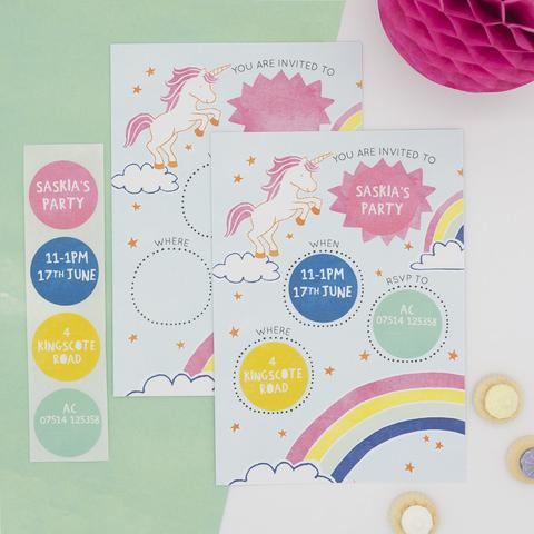 Launching Our Personalised Sticker Invitations