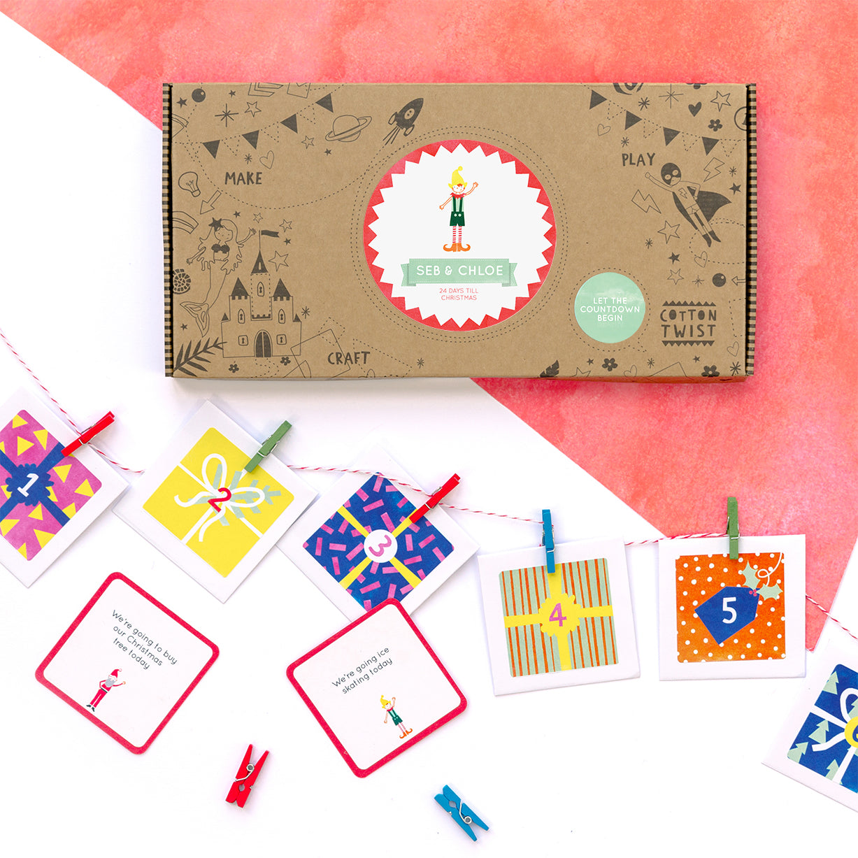 personalised make your own advent calendar kit