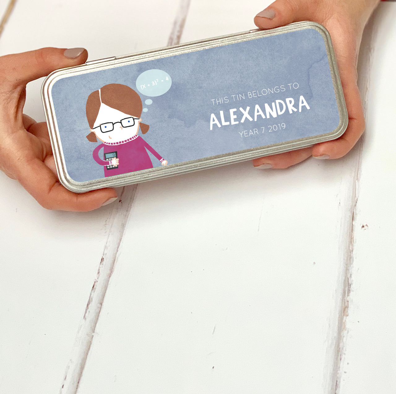 personalised character pencil tin