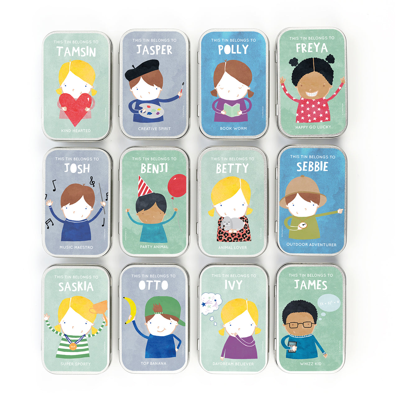 personalised character keepsake tin