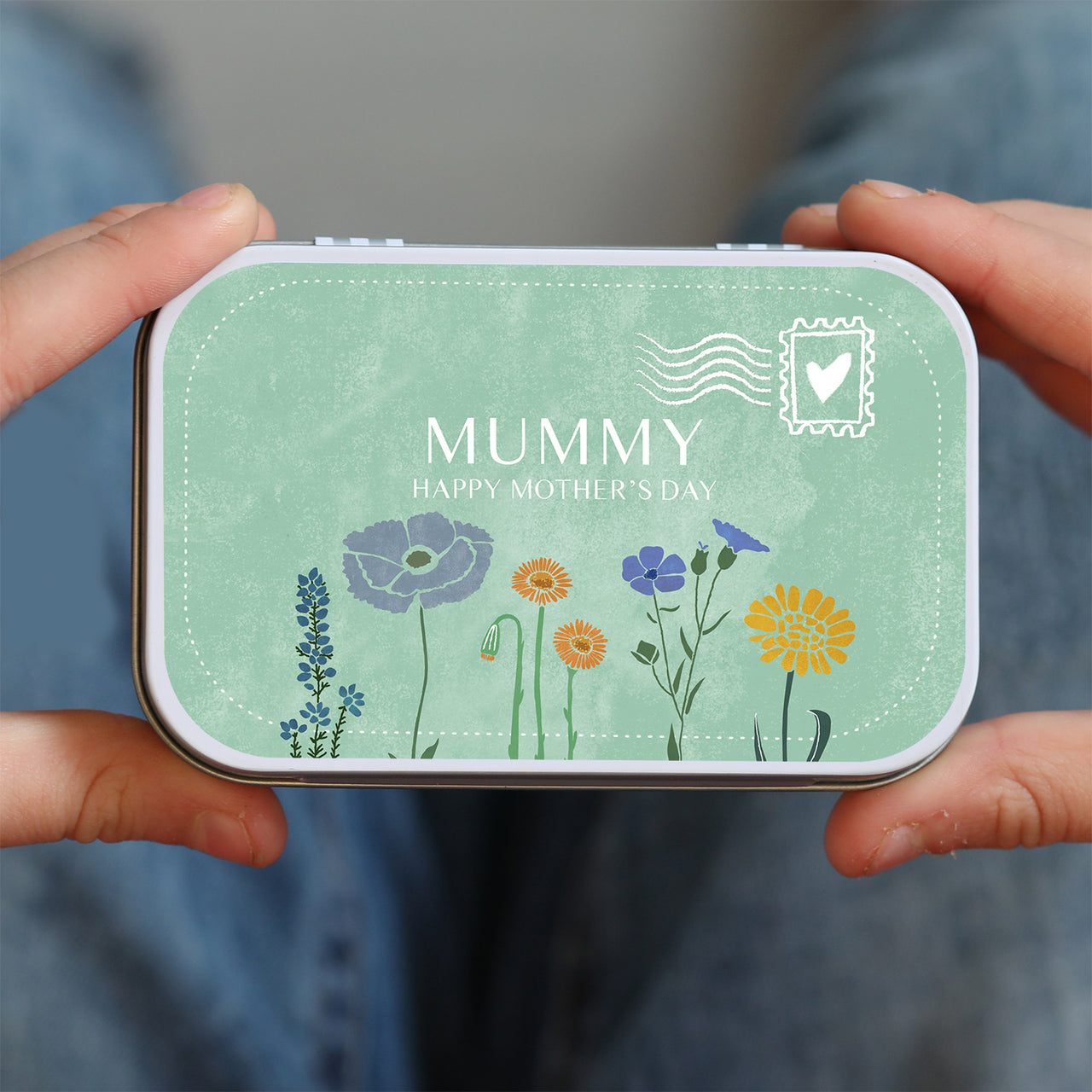 personalised mother's day letter style tin