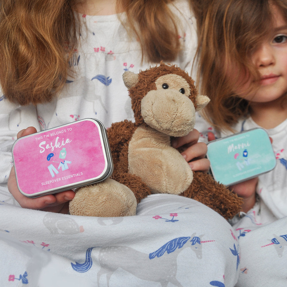 personalised sleepover party keepsake tin