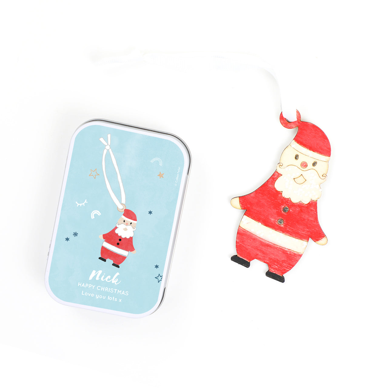 personalised make your own father christmas decoration