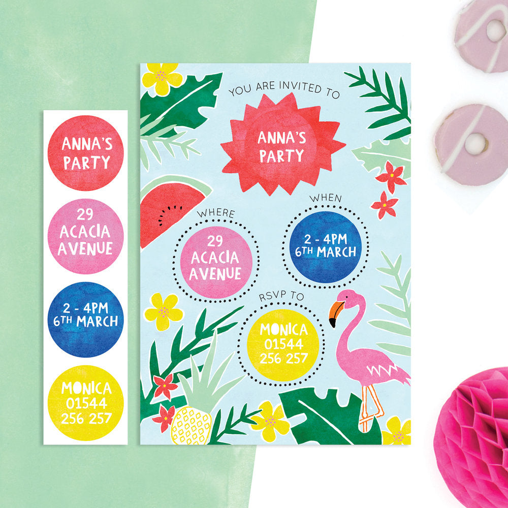 personalised tropical invitations