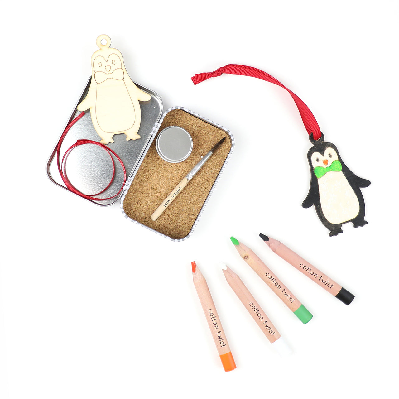 personalised make your own penguin christmas decoration