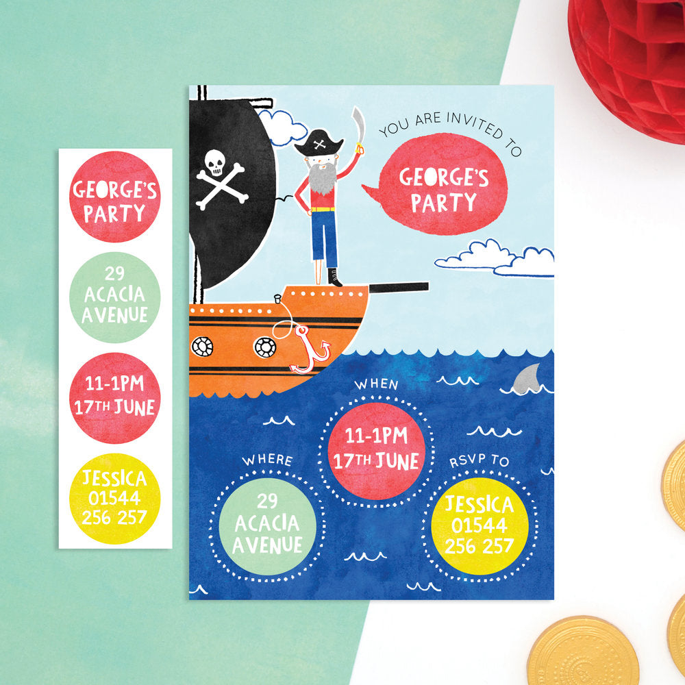personalised pirate invitations