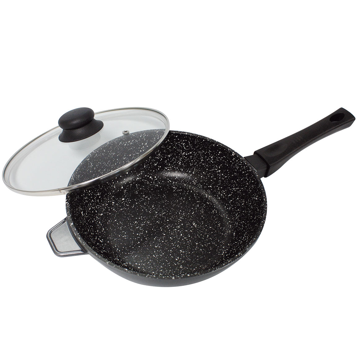 High capacity deep pan | Stone particle made to maintain flavour | 28 cm