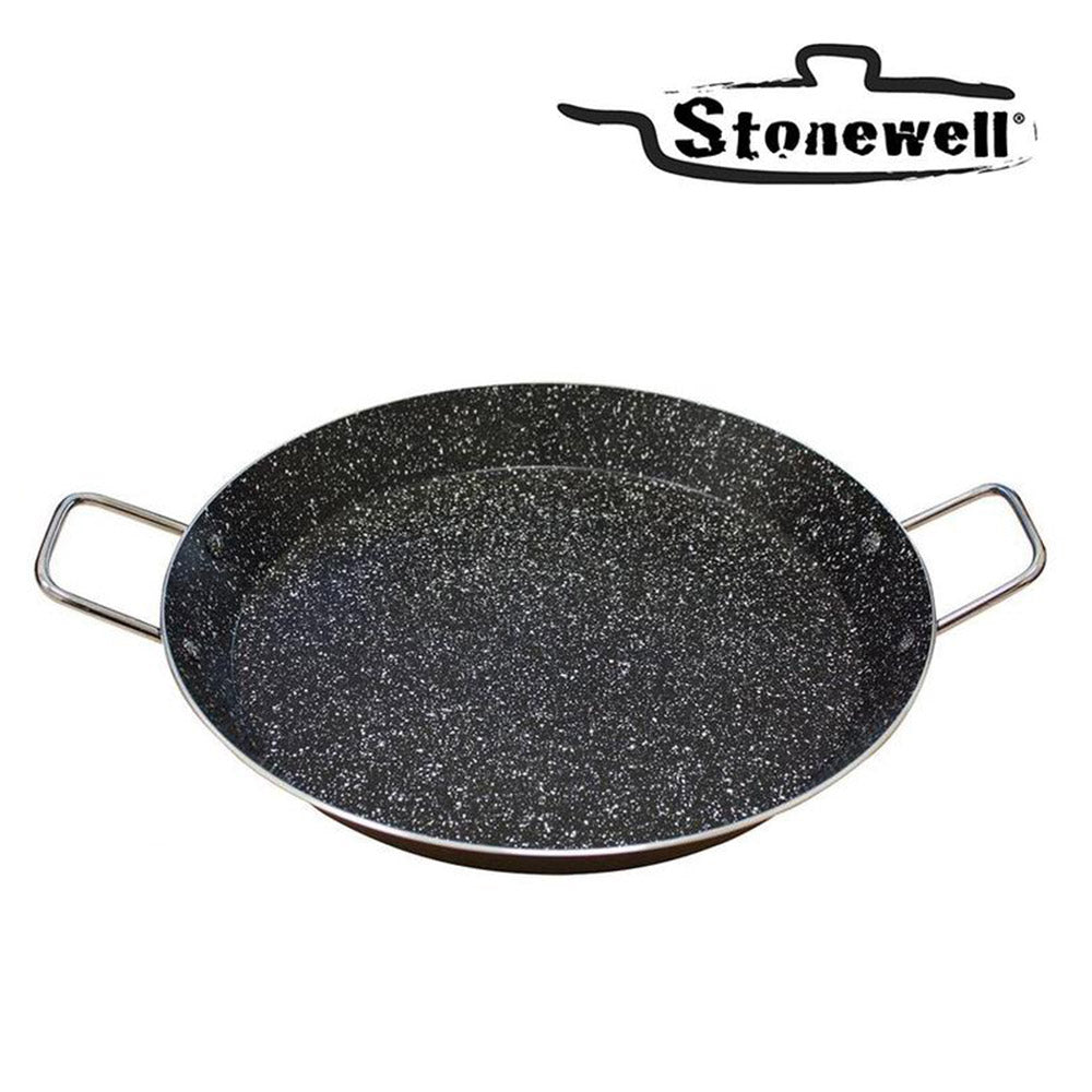 Stonewell Paella Pan | Stone particle paella pan to maintain flavour | Best paella's in your home | 26 cm