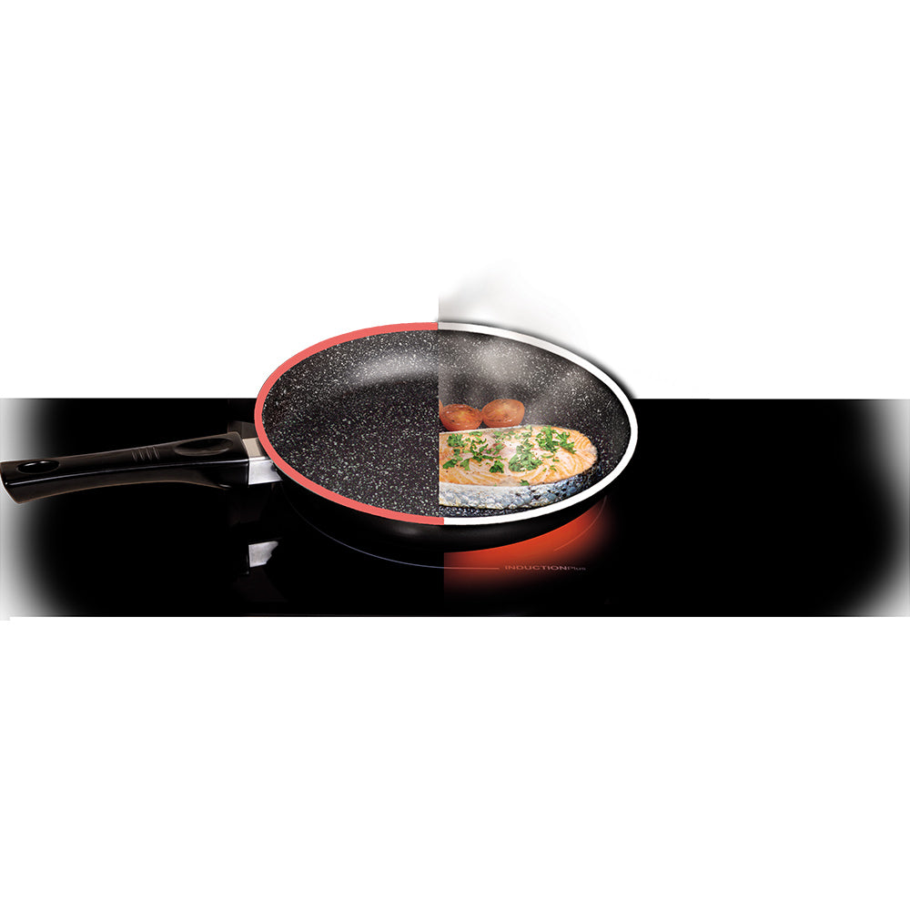 Stonewell | Heat Sensor Pan 32 cm + Pan 24cm + 16cm pot with glass lid