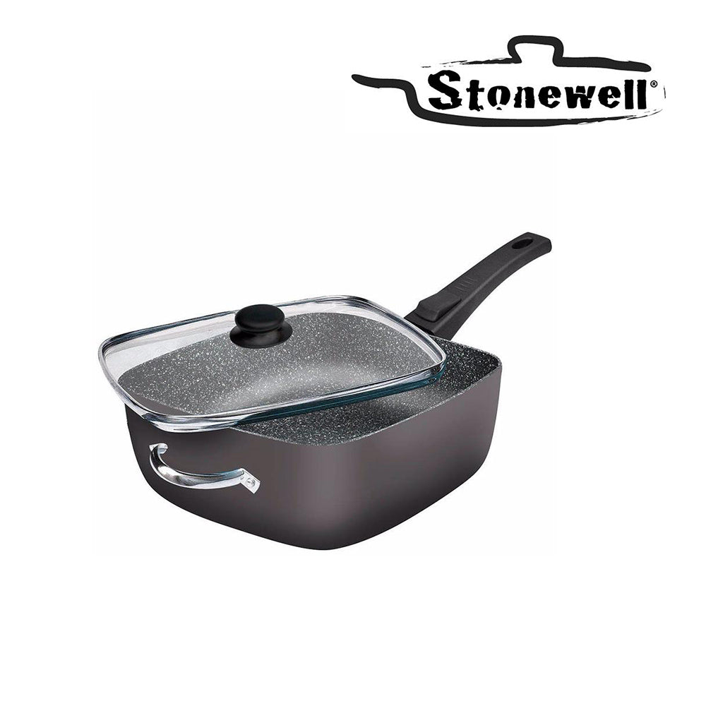 Stonewell Square Deep Pan | The 100% non-stick squared frying pan | 28 cm