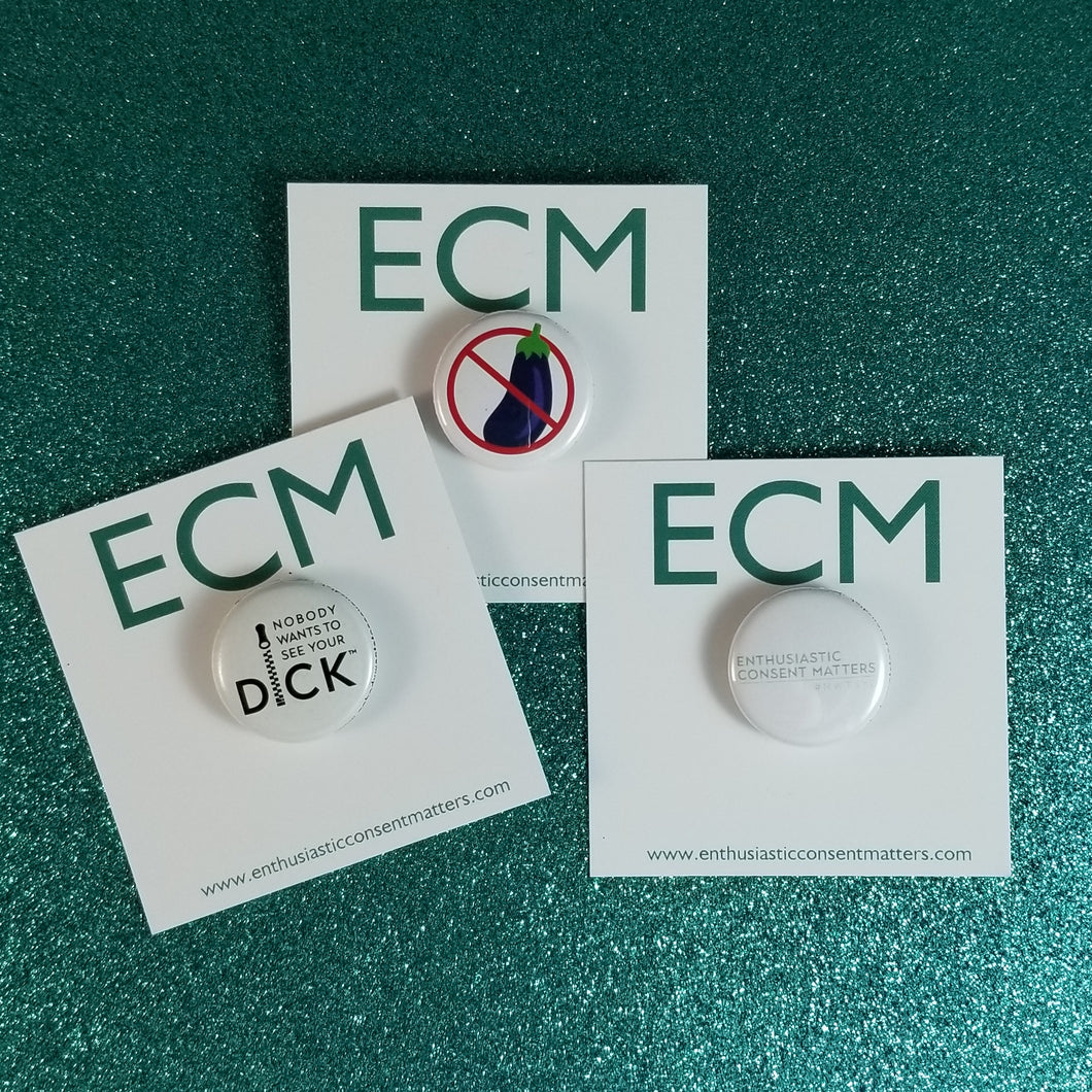 Enthusiastic Consent Matters Button Pack
