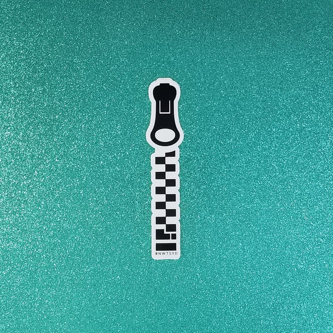 The Big Zipper Sticker