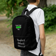 Load image into Gallery viewer, P. E. O. Backpack Black