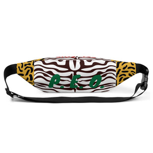 P.E.O. Fanny Pack Red, Black, & Green