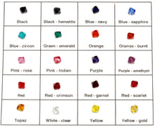 Swarovski crystal colors for charm earrings