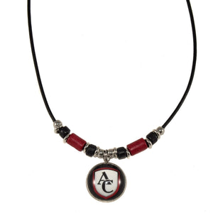 Custom Logo Leather Cord Necklace