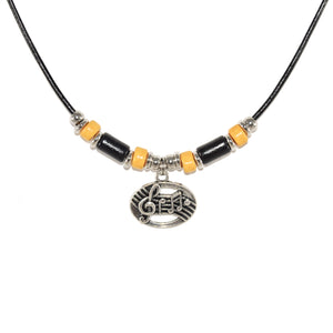 marching band music necklace jewelry