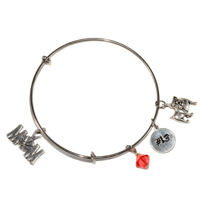 Basketball Bangle Bracelet