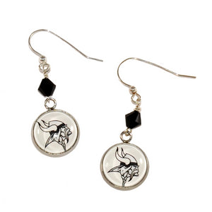 Blacklick Valley Vikings earrings with Swarovski crystals