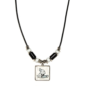 Blacklick Valley Vikings leather cord necklace