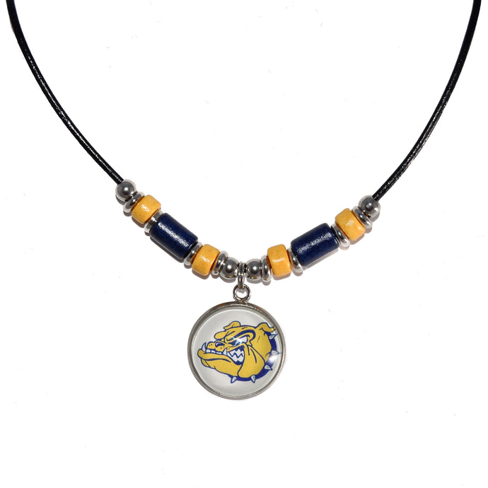 Olmsted Falls Bulldogs leather cord necklace jewelry fundraiser
