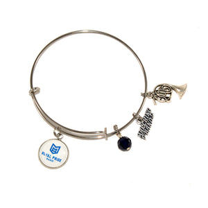McKinney High School Royal Pride Marching Band expandable bangle bracelet