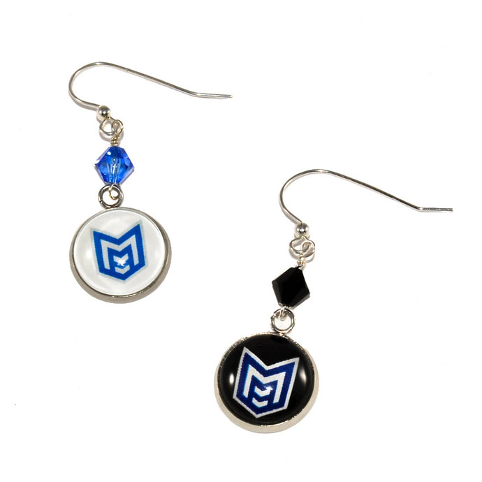 McKinney High School Royal pride marching band earrings jewelry
