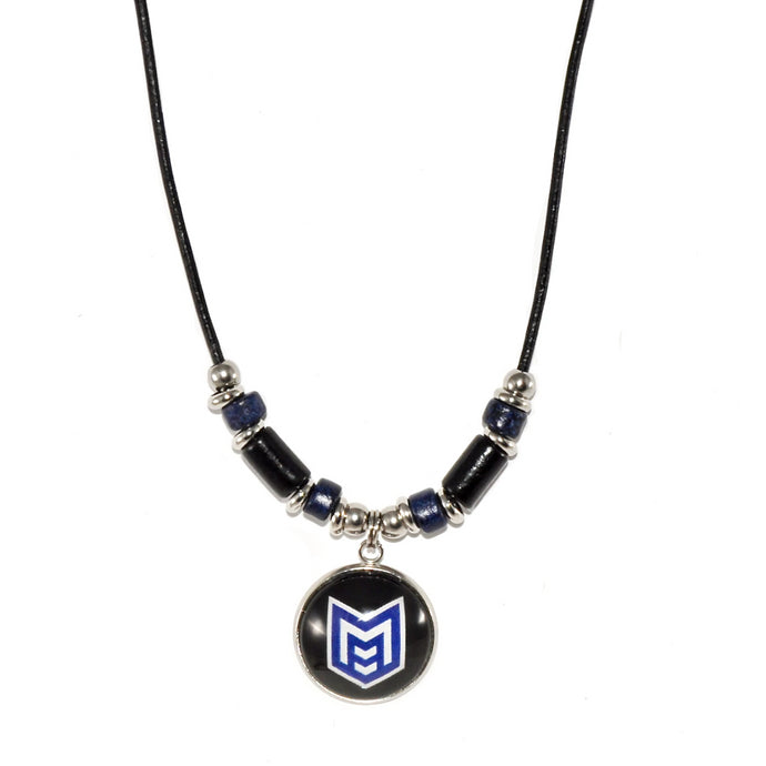 McKinney High School royal pride leather cord necklace jewelry