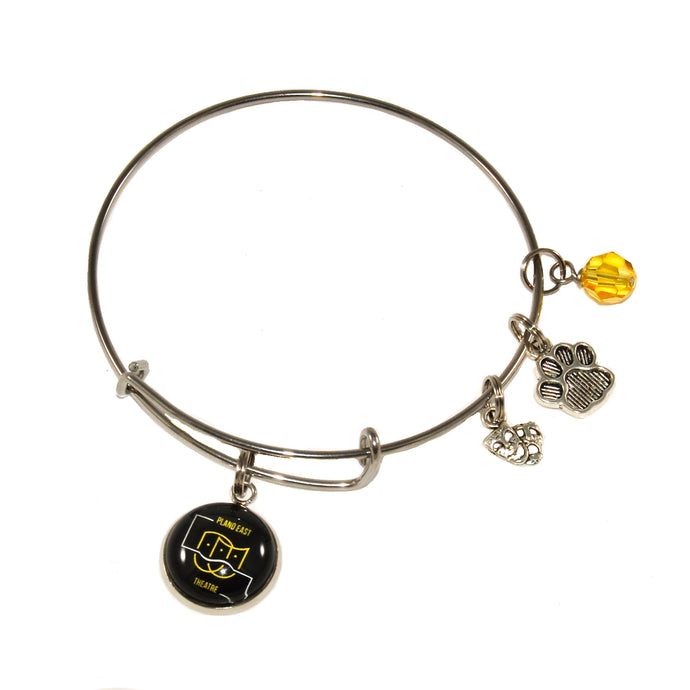Plano East high school theater expandable bangle bracelet jewelry