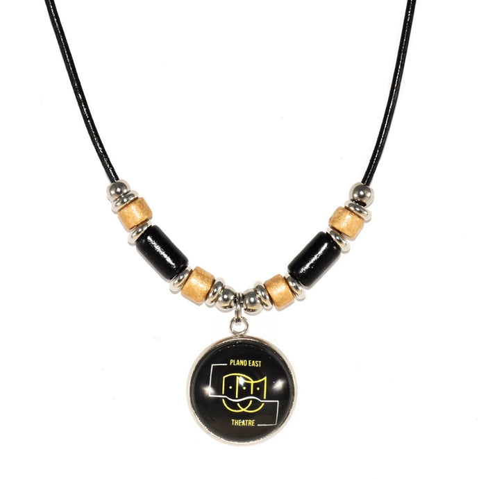 Plano East Theater leather cord necklace jewelry