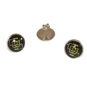 Plano East theater stainless steel stud earrings jewelry