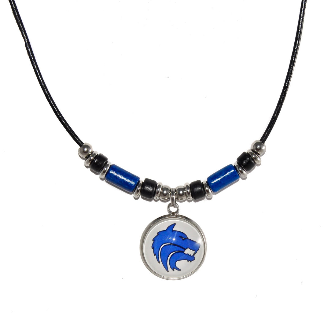 Plano West Senior High School Leather Cord Necklace