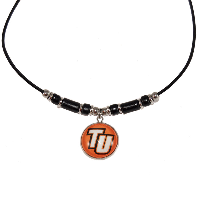Tusculum University Leather Cord Necklace