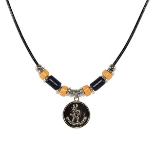 leather cord wrestling mom necklace sports jewelry
