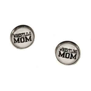 Wrestling Mom Stud Earrings