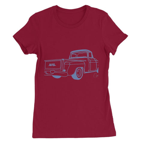 Image of Blue GMC Truck Womens Favorite T-Shirt